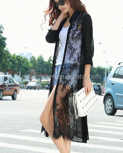 D60280B 2014 THE NEW SUMMER ORAGANZA DRESS LACE CARDIGAN