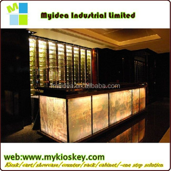 Led Bar Counter With Modern Bar Counter Designs For Restaurants Made ...