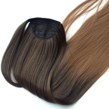 Ombre 2Tone synthetic ponytail hair extensions,Straight Hair Piece,Ponytail Hairpiece