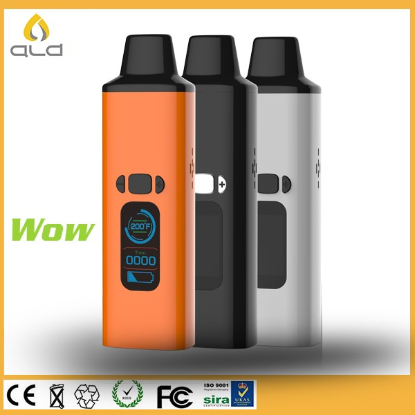 2016 top hot selling authentic ALD AMAZE dry herb vaporizers dry herbal vaping starter kit