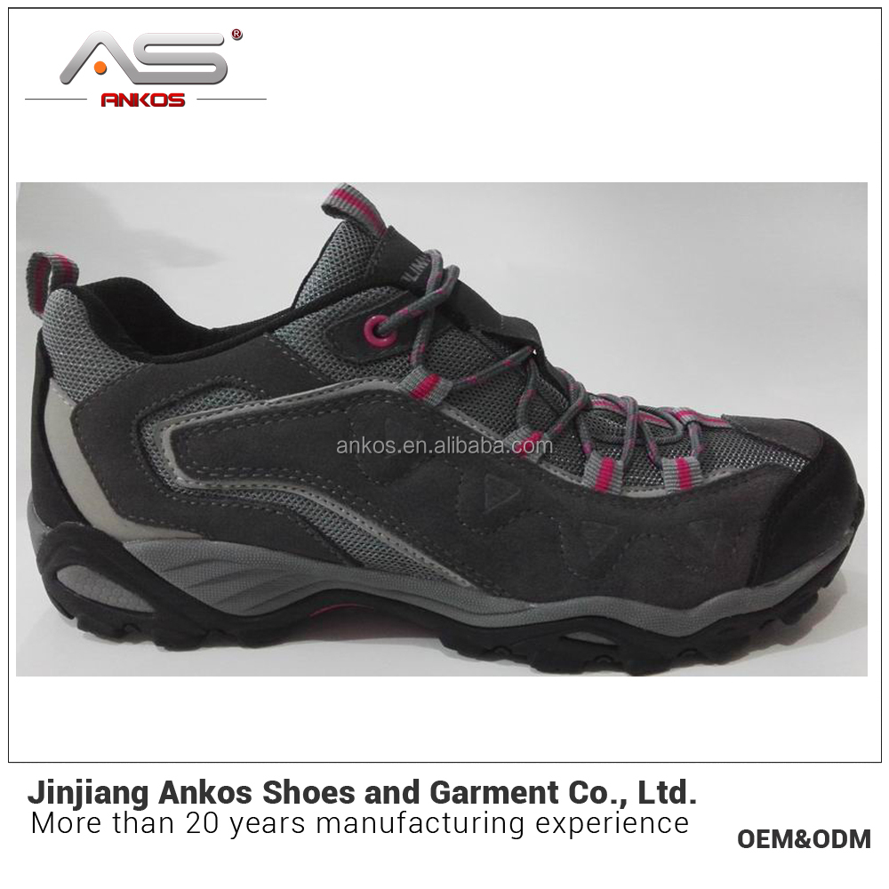 2017 Light hiking shoes in breathable genuine leather low slip-resistant wear-resistant waterproof shoe