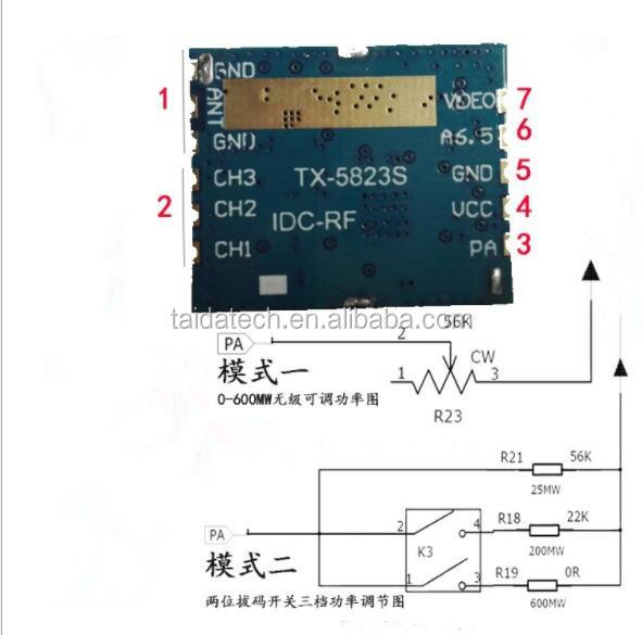 long rang 1000m tx582s mini 5 8ghz fpv transmitter 600mw fpv video  transmitter module