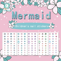 2019 SE Series of Nail Stickers for Little girls Safe Light 3D Nail Stickers for Mermaid Nail Decal.