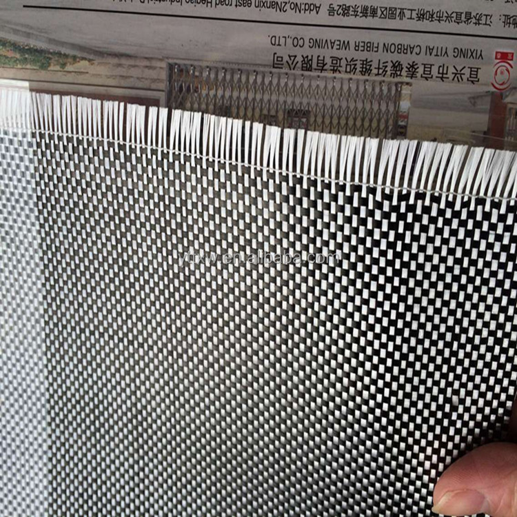 high quality 3k plain carbon fiber mixed with glass fiber woven fabric manufacturers selling
