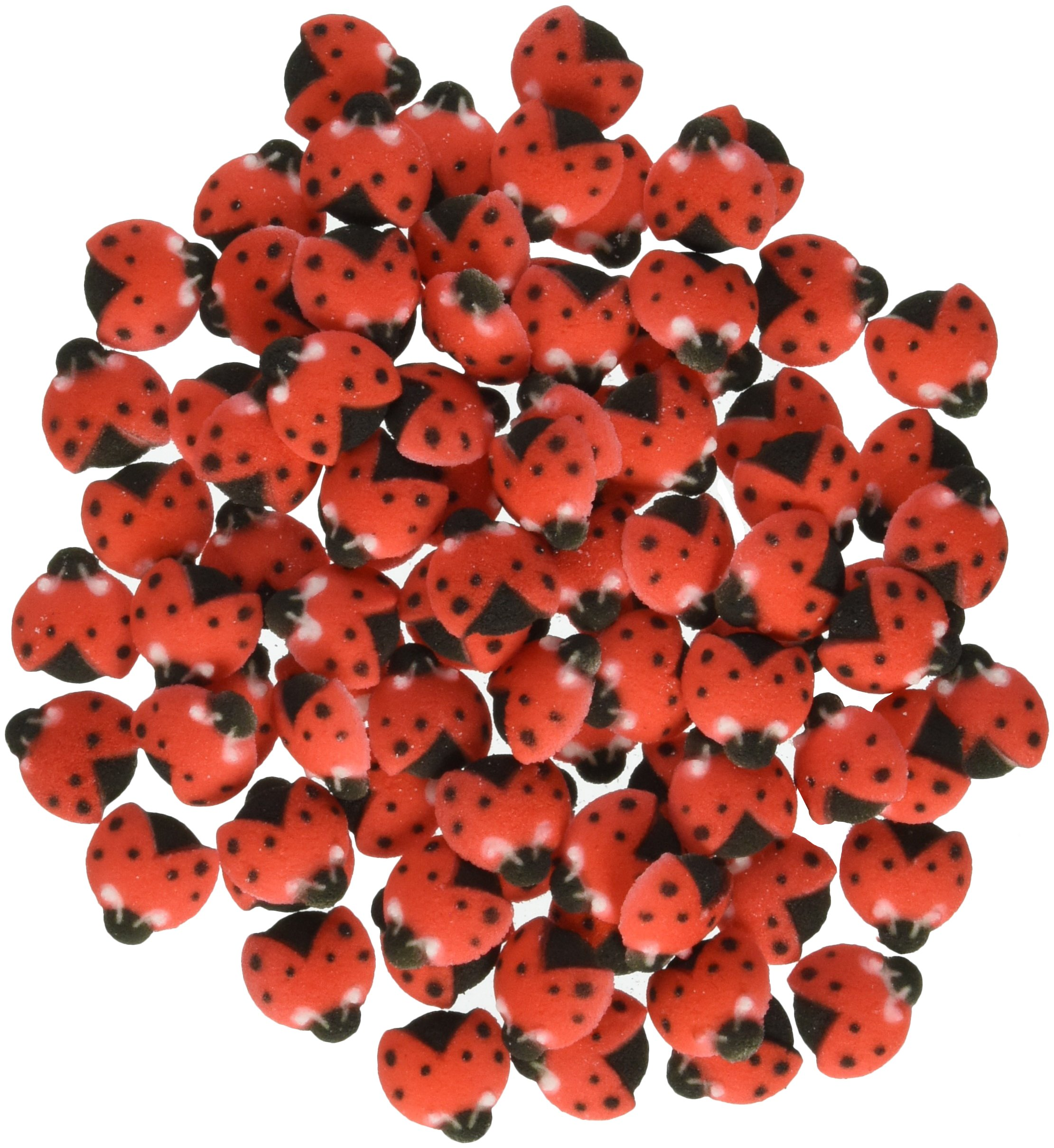 Lucks Dec-Ons Decorations Molded Sugar/Cup-Cake Topper, Ladybugs, 3/4 Inch, 176 Count