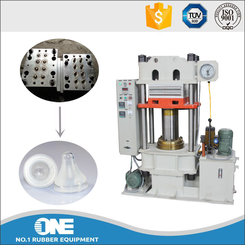 professional manufacturer silicone soother moulding press / rubber compression molding machine