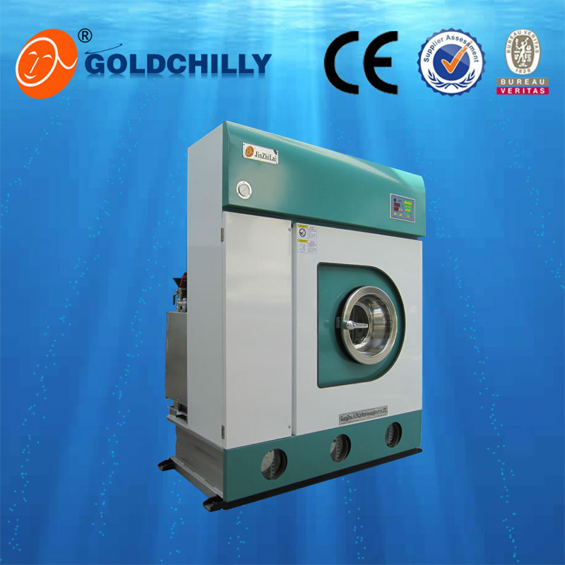 8kg complete dry cleaning equipment polyethylene/electric heated dry cleaning machine for sale