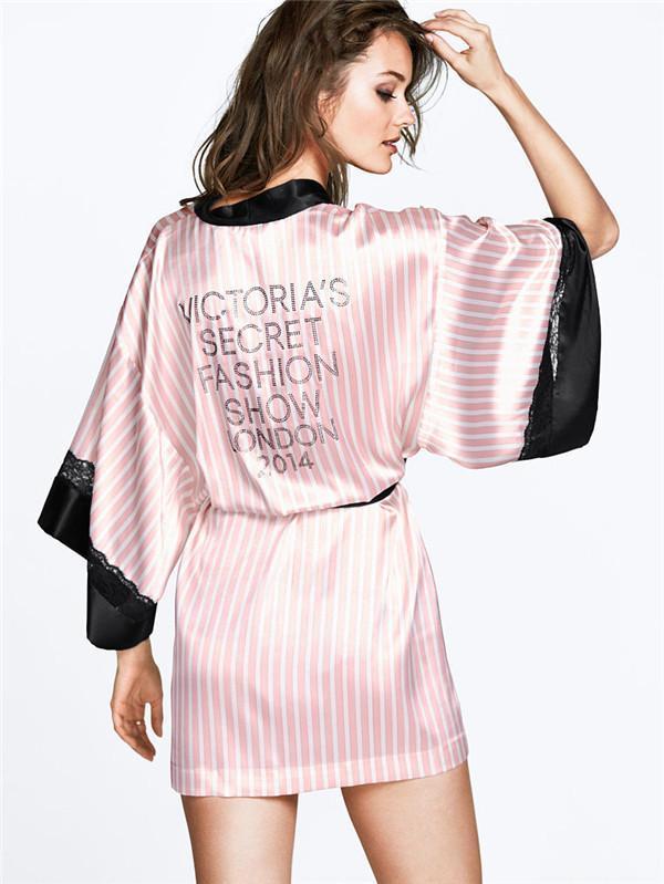 Buy Fashion Satin Robes for Women Kimono Sleepwear Hot Sale Bath ...