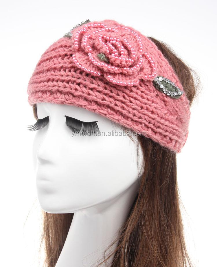 Gestrickt Winter Stirnband Mit Knopfverschluss Muster Stricken Warme ...