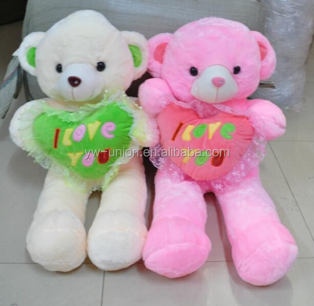Shiny fur teddy bear Toy animals stuffed plush ,sock plush stuffed animal toy