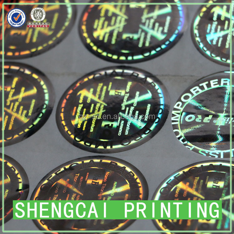 Custom Hologram sticker logo printing different sizes available security hologram sticker printer