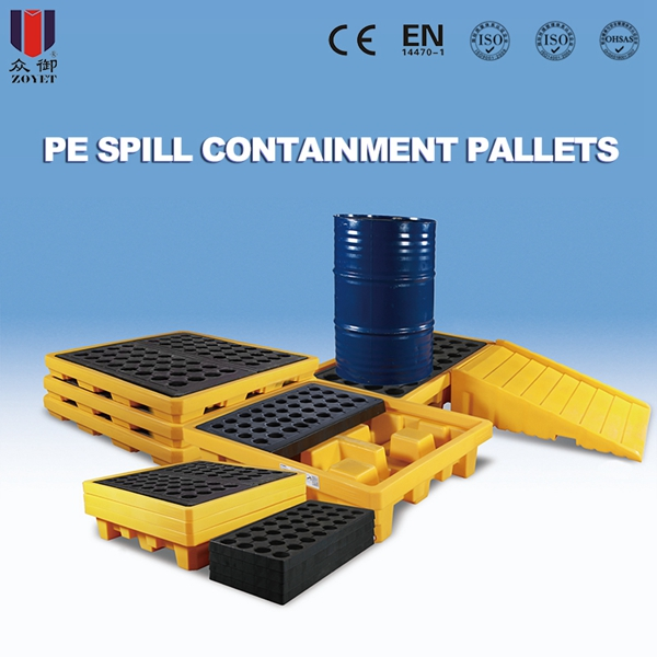 two pallets spill containment pallet100 recyclable pe spill pallets for two