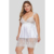 Fat Women Chemise Lingerie Set Sexy Nightie Full Slips Lace Plus Size Babydoll Sleepwear Dress With Thong (1X-5X)