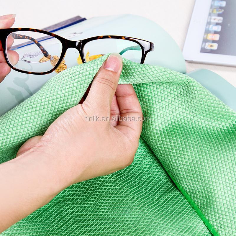 Microfiber 80 % polyamide polyester+20% polyamide hoog water absorberend multi- purpose microfiber glas schoonmakende doek