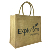 Durable in use personalized jute burlap gunny tote shopper gift bags
