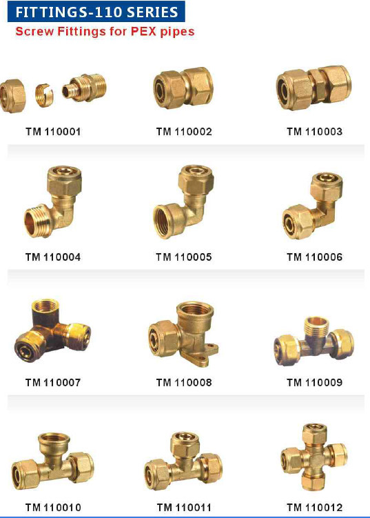 Screw pex pipe fitting of elbow tee reducer buy brass