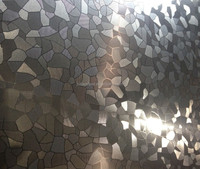 019Cr18MoTiColor NO.8 Mirror Etched finish stainless steel sheet,304 2B Stainless steel etching plate,KTV stainless steel