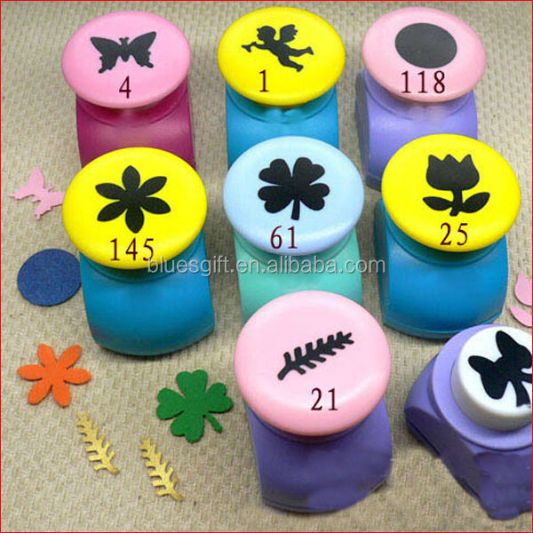 2014 DIY kids gift paper punch scrapbooking