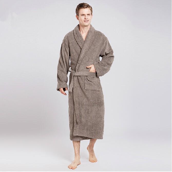 100 katun mandi handuk jubah untuk pria