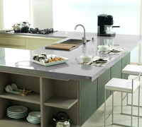 White Kitchen Counter/corian Bench Top/solid Surface White Kitchen ...