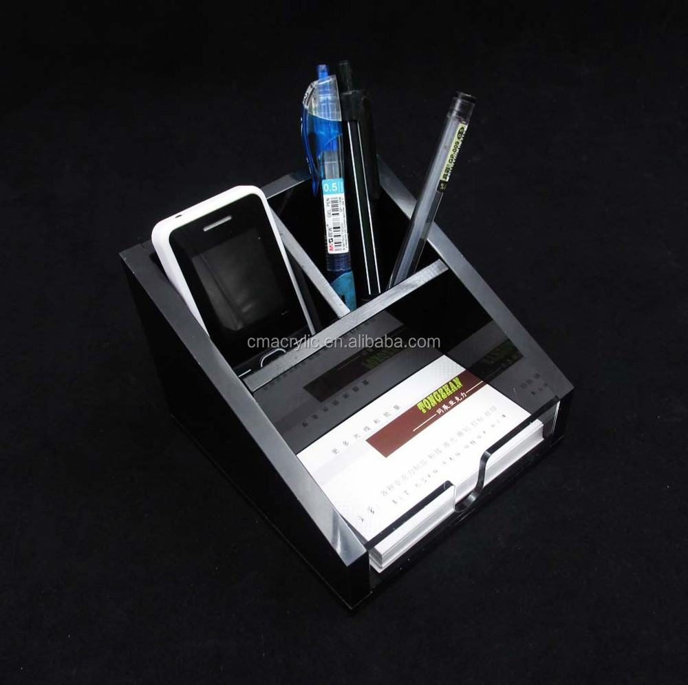 Supply available popular desktop acrylic pen holder for office accesories
