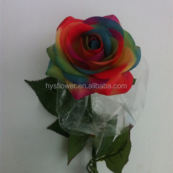 Artificial Latex Real Touch Rainbow Roses,Real Preserved Roses In ...