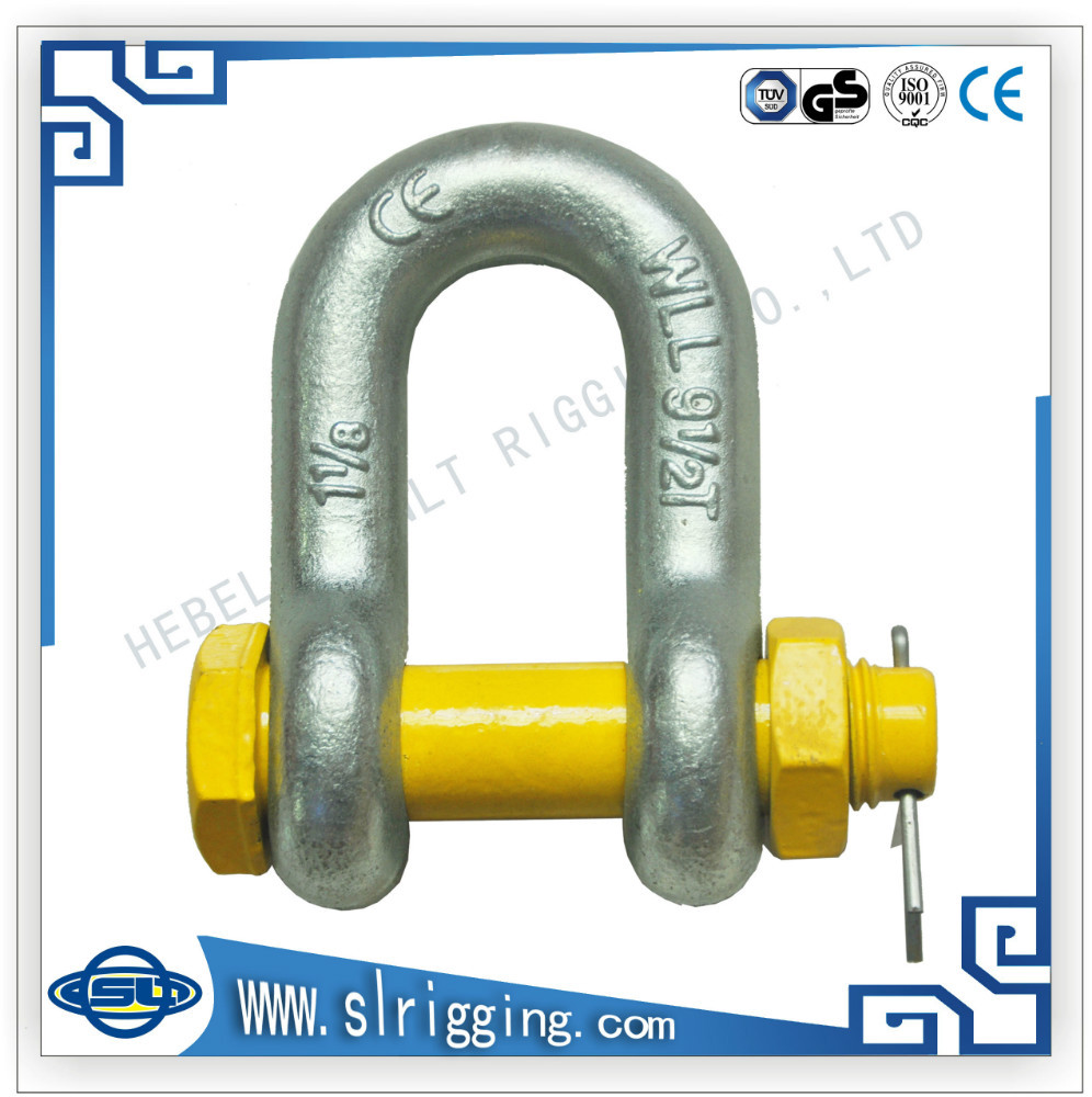 DSL forged Hardware Rigging electro galv US type bolt chain shackles G2150