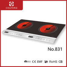 2 Burners Electric plate Infrared cooker with LED display 831