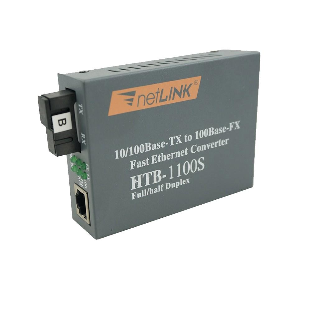 Fast Ethernet Fiber Optic Media Transceiver Single-Mode HTB-1100S 25 KM