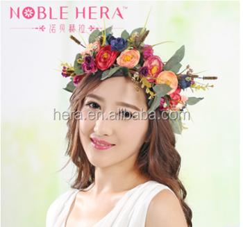 Bohemia Style Tiara Flower Head Garland For Beautiful Girls - Buy ... 5bb8f5429ca