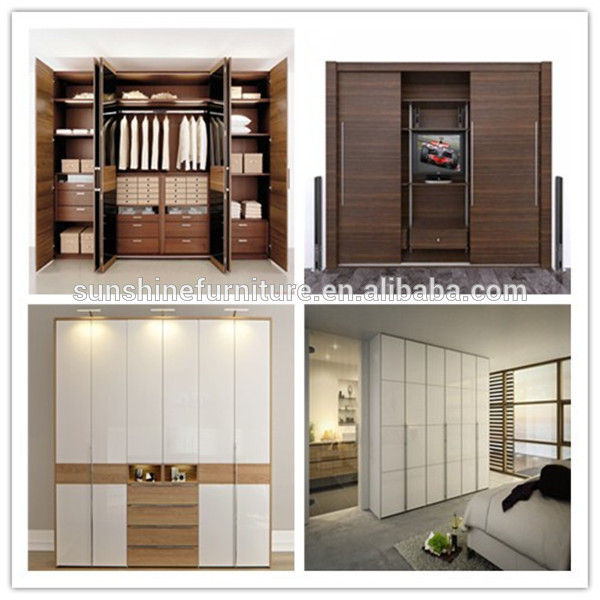 Cheap wooden latest bedroom sliding doors wardrobe closet - Bedroom cabinets with sliding doors ...