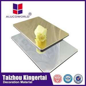 Alucoworld SGS inspection certificate mirror finish composite panel acp aluminium bond