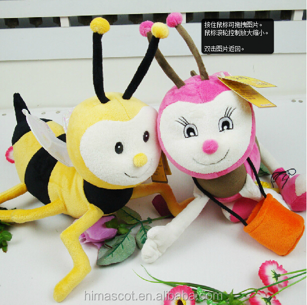 Hot selling lovely plush bumble bee/bee plush stuffed toys