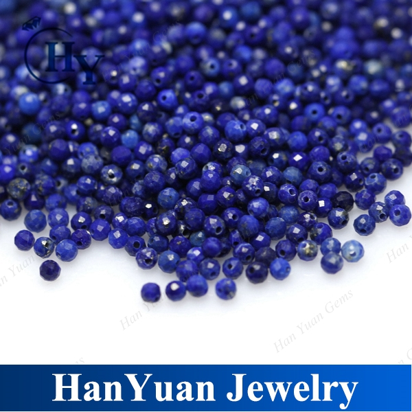 Natural good quality AB Faceted Blue 3mm Afghan Lapis Lazuli Beads for Jewelry Making