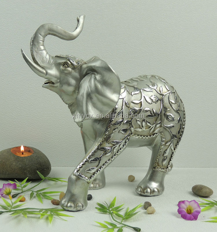 Wholesale Silver Plated Elephant Figurines For Table Decor