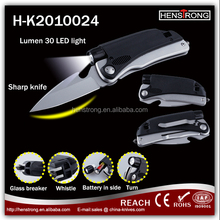 Multi Function Stainless Steel Outdoor Rescue Folding LED Survival Knife
