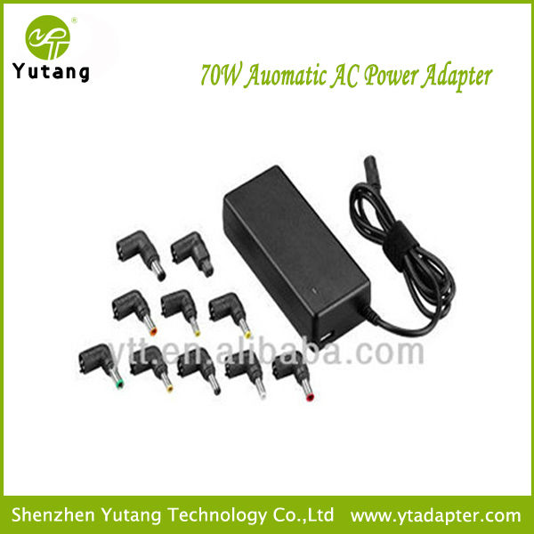 70W unviersal automatic power supply auto <strong>adapter</strong> for laptop pc notebook with USB