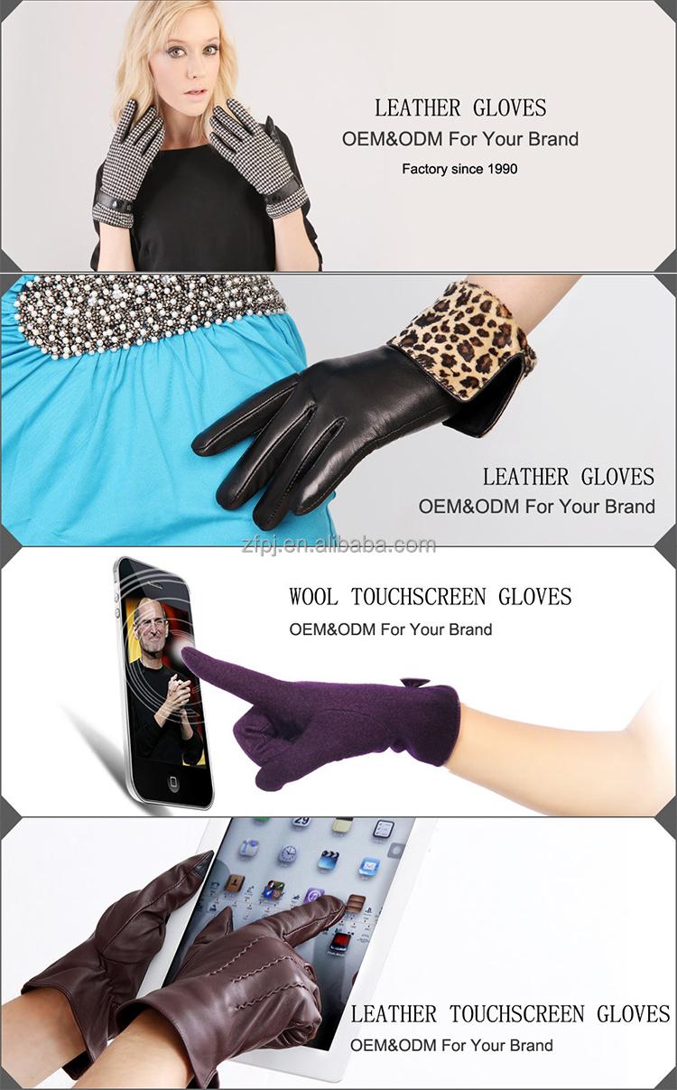 Skin tight leather driving gloves - Women Wear Skin Tight Leather Gloves