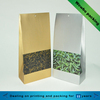 tea packaging paper bag with clear PVC window
