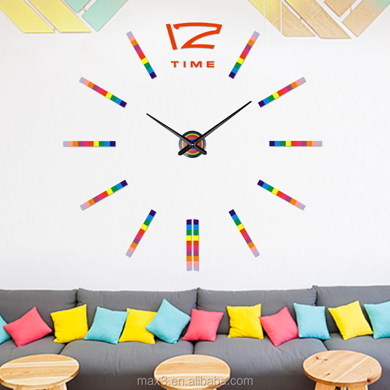 New EVA Material Wall Clock Mechanism And DIY Clock With Young Town Clock Movement