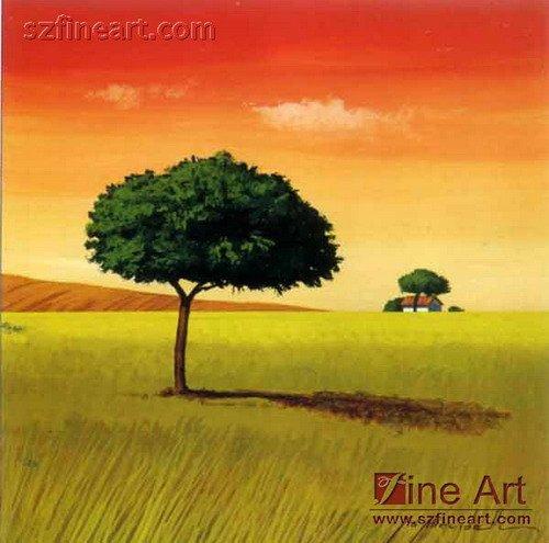 100 main chaude et nouvelle facile peinture de paysage avec style abstrait peinture et - Paysage peinture facile ...