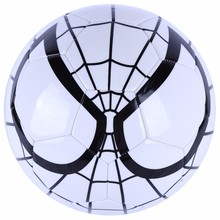 Spiderman design PVC machine sewing soccer ball with cheap price
