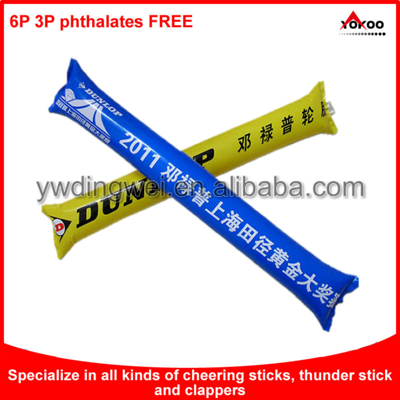 Inflatable thunder stick for sports events