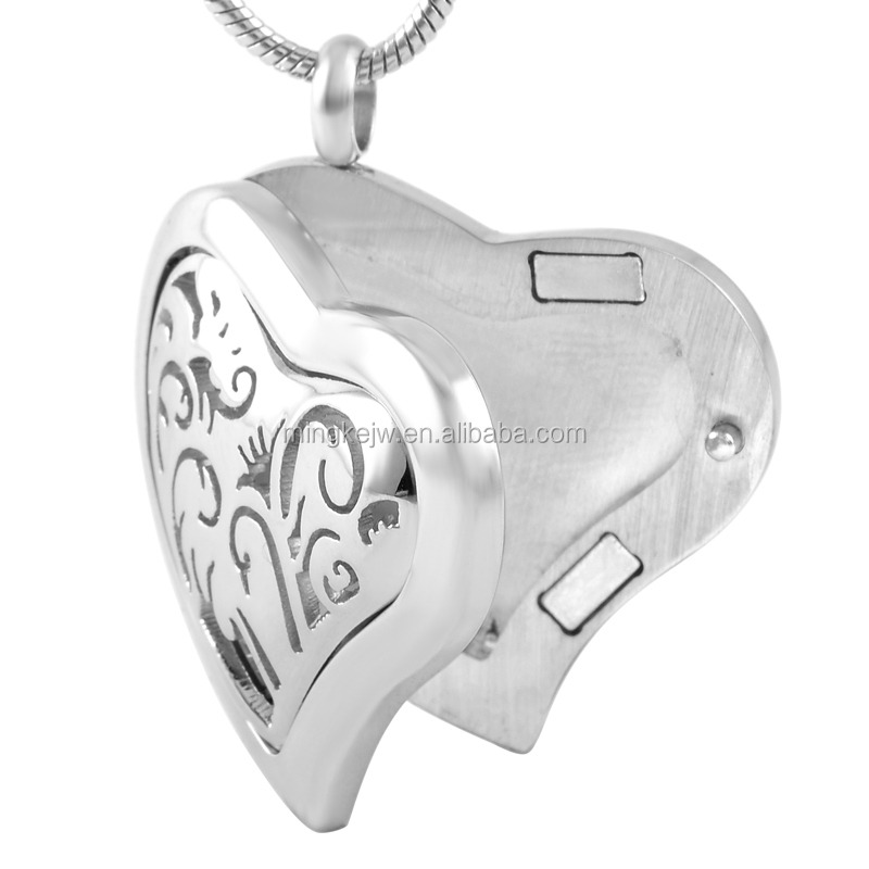 IJP0033 Aroma Locket Cheap Wholesale Heart Shape Stainless Steel Essential oil aromatherapy diffuser pendant For Women