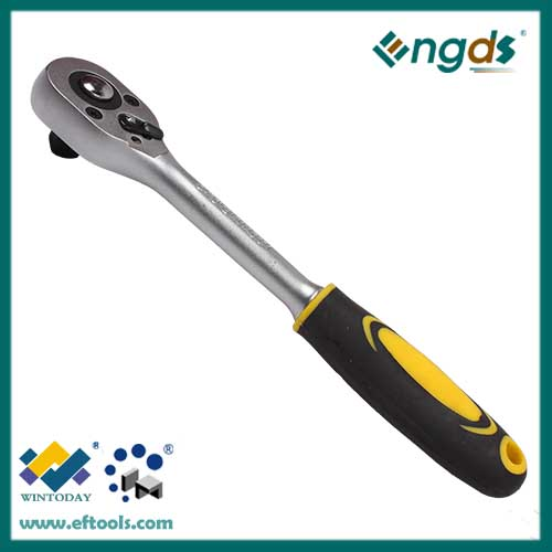 45T plastic coated open triangle ratchet wrench