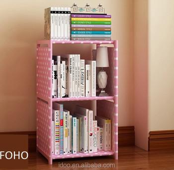 Modern Popular Design Non Woven Fabric Bookshelf Diy Kids