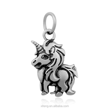 Stainless Steel Animal Hummingbirds Panda Bear Raccoon Sloth Unicorn Blacken Pendant