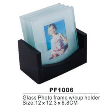 photo insert clean glass coaster from china