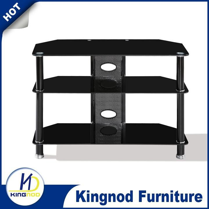 3 tier glass tv stand Modern lcd tv unit for home