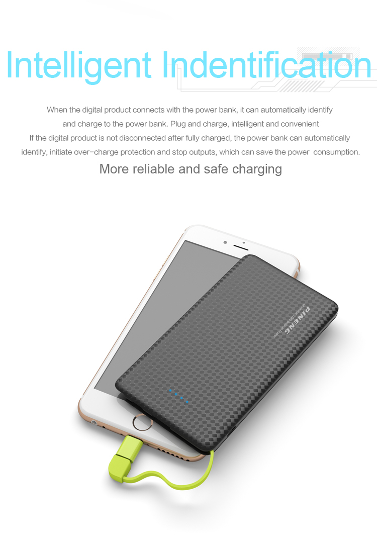 New Version portable outdoor travel Ultra thin 5000 mAh Credit Card PowerBank